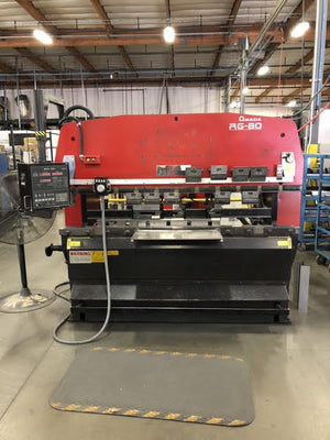 88 Ton x 8' Amada RG-80, 1996-CNC Press Brake, NC9-EXII CNC Control