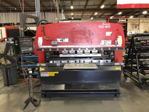 88 Ton x 8' Amada RG-80 CNC Press Brake, 1996 - NC9-EXII 3-Axis CNC Control