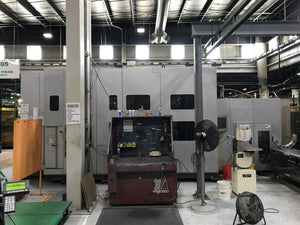 (2) Toyoda FH630S Horizontal Machining Centers, 2004 with Toyoda 12 pallet Rail Guided Vehicle System, 2001