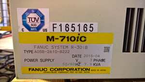 2015 Fanuc Robot M-710iC 70 with R-30iB Control