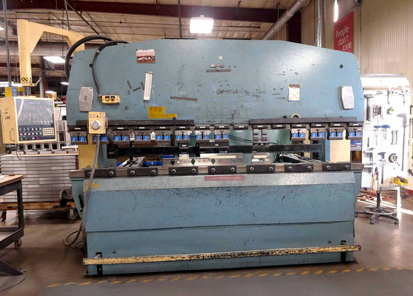 1986 Amada RG-100 Hydraulic CNC Press Brake- 10' x 100 Ton, NC9-EX Control, 4 Back Stops