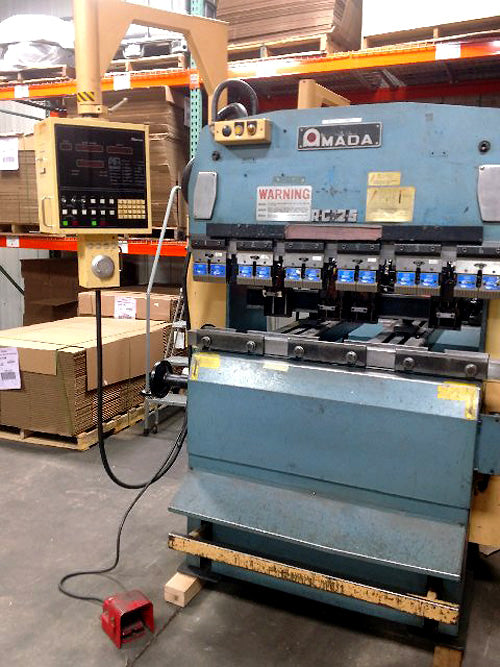 1984 Amada RG-25 Hydraulic CNC Press Brake- 4' x 25 Ton, NC9-EX Control, 4 Back Stops