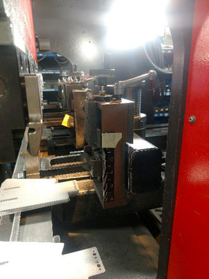 1989 Amada RG-35 S Hydraulic CNC Press Brake- 35 Ton x 4', NC9-EXII Control, 4 Back Stops