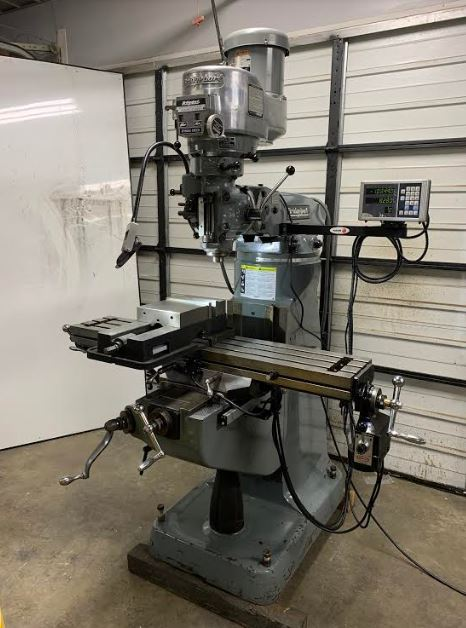 "Bridgeport Series 1 2J Head Milling Machine 9"" x 48"""