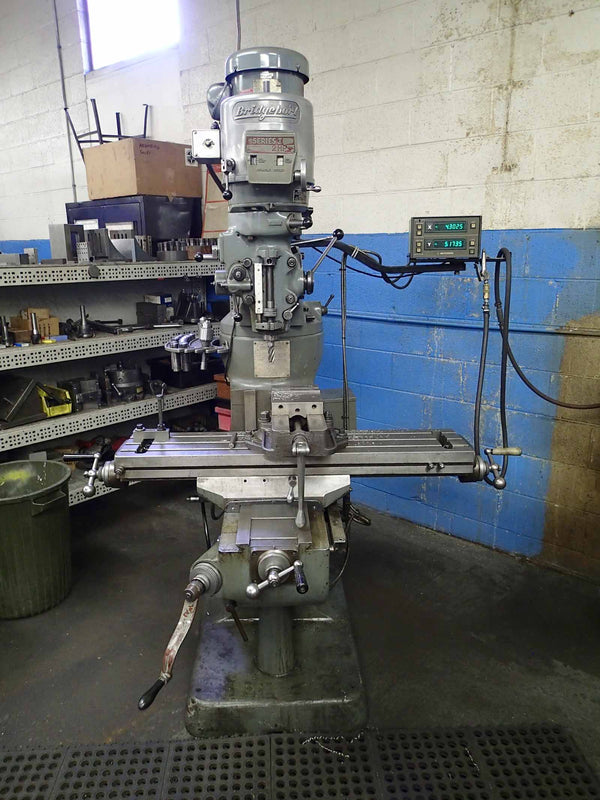 Bridgeport Series 1 Mill- 2 HP, Mitutoyo DRO, Chrome