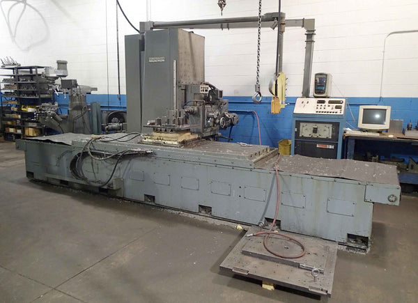 "Cincinnati Milacron 5H- 2500 NC Horizontal Boring Mill- 6"" Spindle, 40"" x 100"" Table, 20"" Rotary, Acramatic 8-D CNC"