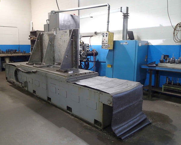 "Cincinnati Milacron 2H-100 Horizontal Boring Mill- 6"" Spindle, 40"" x 100"" Table, 20"" Rotary, Acramatic 5 CNC"