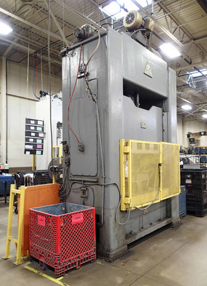 "Clearing R-150-72 Crankless 150 Ton Press- 73"" x 43"" Bed"