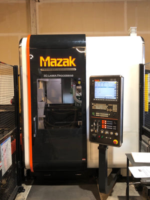 "4000 Watt Mazak 3D Fabri Gear 220 II CO2 Tube Laser, 2014- 26' X 8.6"", Auto load"