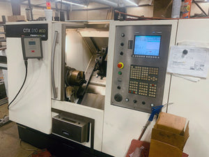DMG CTX 310 Eco CNC Lathe, 2008- LNS Quick Load Servo 65 Bar Feeder, Low Hours