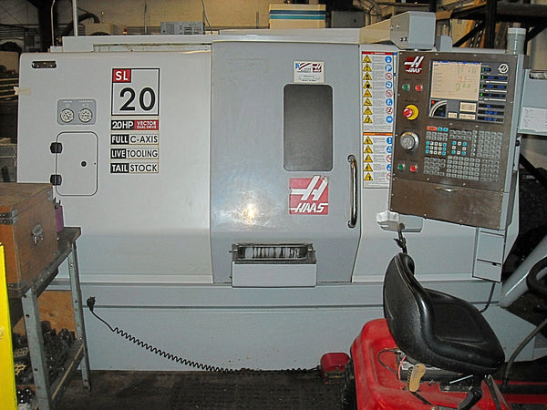 2007 HAAS SL-20 CNC Turning Center with Live Tooling and Parts Catcher
