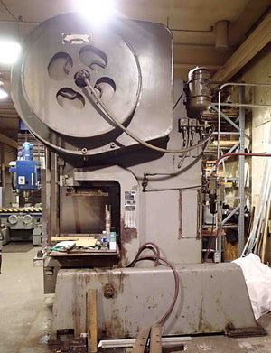 Danly 110 Ton Geared Punch Press with Coiler and Straightener