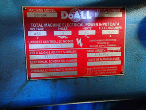 "DoAll 500 SNC Horizontal Auto Band Saw- 2005, 14"" x 20"", Miter with Table"