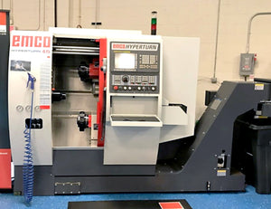 2013, Emco Hyperturn 45- DEMO unit, Fanuc 31i MB, twin turret