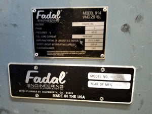 1998 Fadal 2016L with 4th Axis!