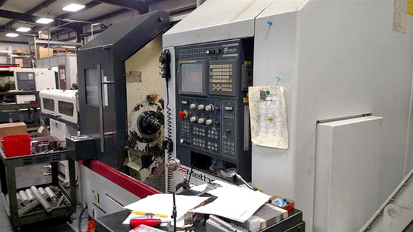 "2011, Feeler HT-30SY CNC Lathe- 36"" Swing x 28"", 7 Axis, Live Tools, Fanuc Control"