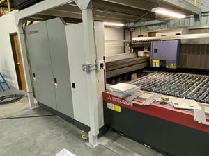 4500 Watt Mitsubishi ML 3015 LVP- Plus 2 CNC Laser, 2010- 5' x 10' Table