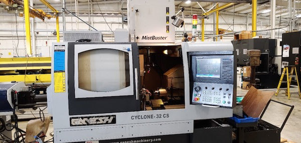 Ganesh Cyclone 32CS CNC Swiss Type Lathe, 2012 - Parts Catcher, Y Axis, 12' Barfeeder