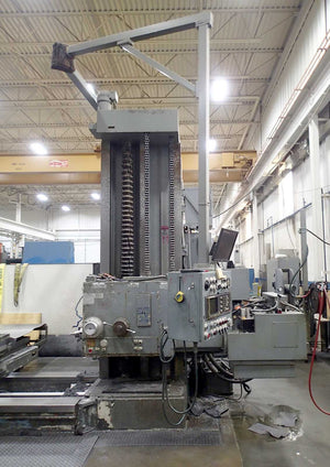 "Giddings & Lewis 70-H6-T Boring Mill- Dynapath CNC, 6"" Spindle, 98"" x 60"" Table"