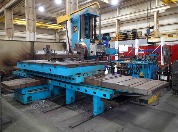 "Giddings & Lewis- Fraser A130B  CNC Boring Mill- 5"" Spindle, 130"" X-Travel"