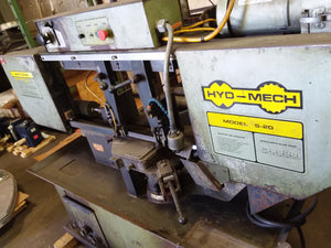 Hyd-Mech S-20 Horizontal Band Saw,1993- 8' Roller Table, Bundle Clamp