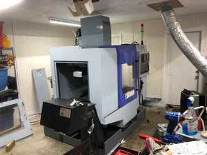 Sharp SV-2412 VMC, 2004 - Fanuc, Ridig Tapping, Under Power