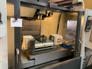 Haas VF-4 5 Axis VMC, 2013 - Haas TR-210 Trunnion Table, Thru Spindle Coolant