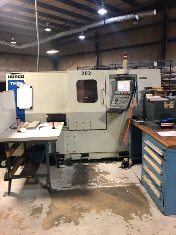 Hurco TMM-8 CNC Lathe, 2008 - Live Tooling, Medical, Under Power, Video