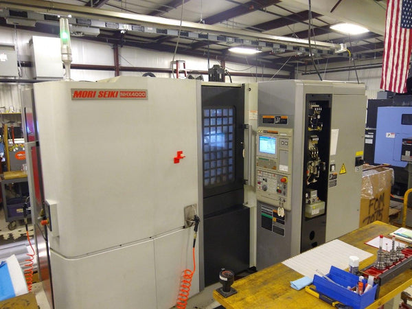 Mori Seiki NHX 4000 HMC, 2011 - Full 4th Axis, 1,000 PSI High Pressure Coolant, Under Power