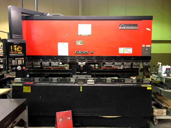 138 Ton x 10' Amada FBD-1253F CNC Press Brake, 1991 - 6 Axis