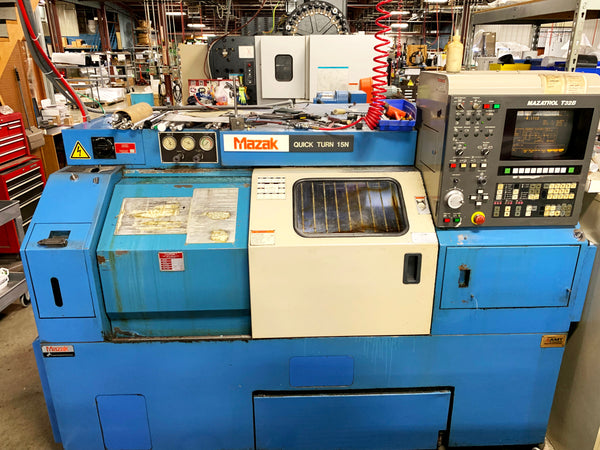 1993 Mazak Quick Turn 15N - Video, Chip Conveyor, 35 sets of Jaws