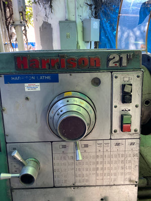 "Harrison 600 21"" Manual Lathe - 21"" Swing, 60"" Bed, Multiple Chuck Options, 3"" TS"