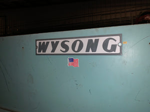 "1/4"" x 12' Wysong H-2512 Shear, 1989 - Backgauge"