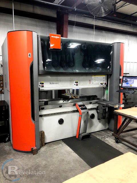 88 Ton x 6.5' Bystronic Xcite 80 E CNC Press Brake, 2013- 6 Axis, Hydraulic Clamping