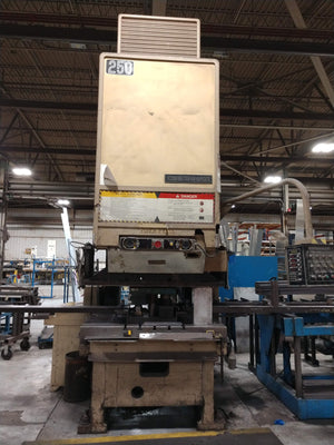 250 Ton Cincinnati OBS Hydraulic Punch Press, 1997