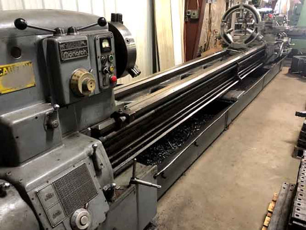 "Monarch Large Capacity Lathe 28"" swing with Metric and Standard Threading"