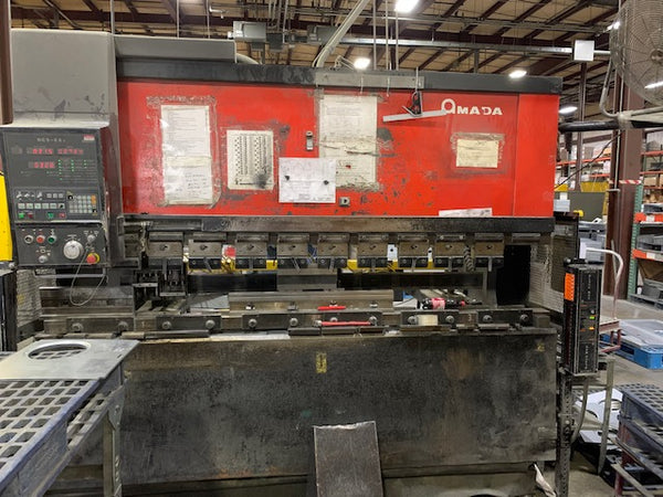 88 Ton x 8' Amada FBD8025 CNC Press Brake, 1992 - 3 Axis, Tooling Included