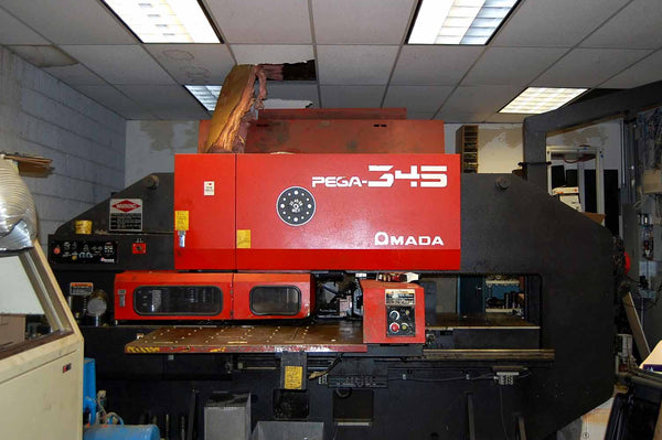 1993 Amada Pega 345 CNC Turret Punch Press, Over 50K In Tooling Included, Under Power