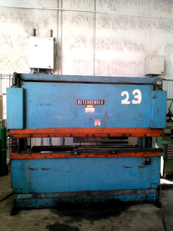 45 Ton x 8' Betenbender Press Brake, 1985 - Video Available