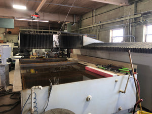6' x 13' Flow Mach 3 4020b CNC Waterjet, 2008- 87,000 PSI