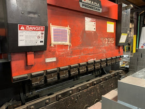 88 Ton x 8' Amada 8025 Promecam CNC Press Brake, 1996 - 4 Axis CNC Backgauge