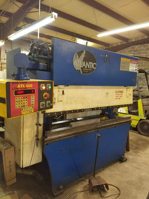 75 Ton x 6' Atlantic/Haco HDE75x6 CNC Press Brake, 1994- Tooling Included