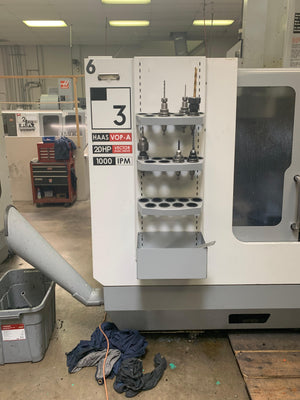 Haas VF-3D VMC, 2005 - Chip Auger, Prog. Cool, Quick Code, Spindle Orientation, Under Power