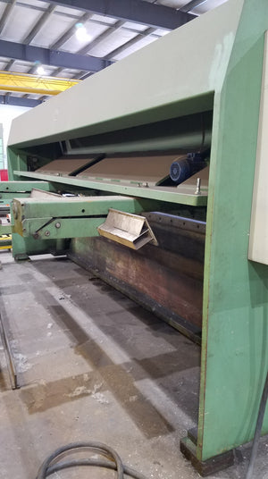 "1/2"" x 13.5' Guifil GHE 1340 Guillotine Shear, 1995- Power Backgauge, Adjustable blade gap"