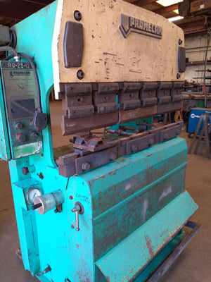 25 Ton x 4' Amada Promecam RG-25-12 Press Brake,1988- Tooling Included