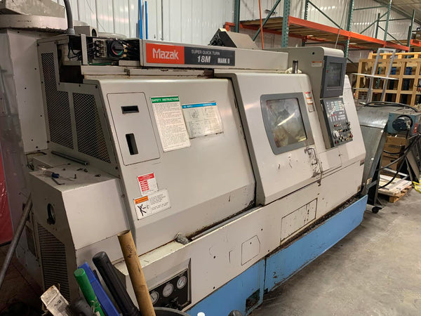 Mazak SQT-18M CNC Lathe, 1996 - Live Tooling, Parts Catcher, Tooling Included