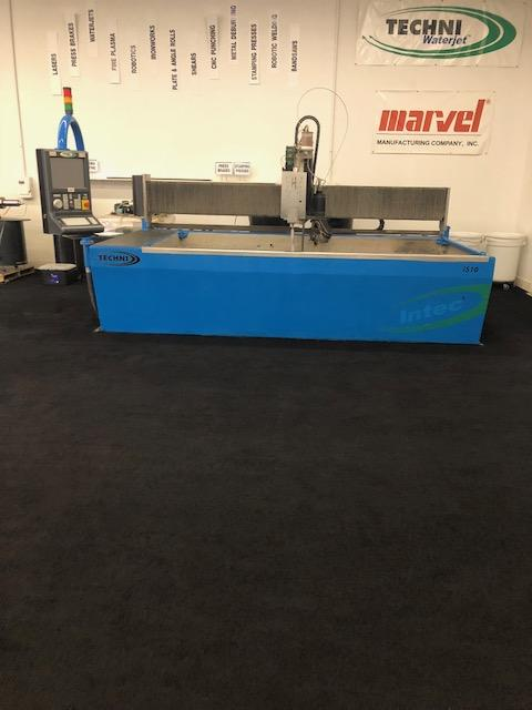 5' x 10' Techni Intec 510 5-Axis Waterjet, 2012- 5 Axis Cutting Head, ESP Electric Servo Pump - 66,000 PSI