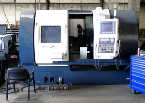 "2018 Johnford SL-500A CNC Turning Center Lathe- 4"" Bar, 35 HP, Live Tools, 12' Bar Feeder"