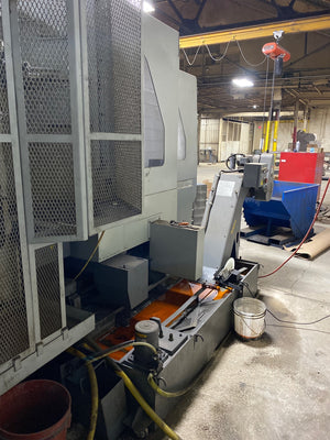 Hyundai-Kia KH-50 CNC Horizontal Machining Center, 2009, Fanuc 18iMB Control