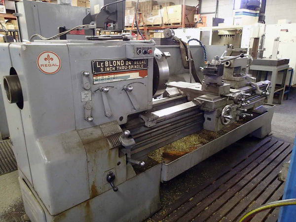 "LeBlond Regal 2472 Geared Head Lathe- 24"" Swing, 72"" Centers, 5"" Through Hole, DRO"